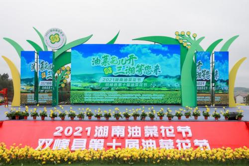 """""""油菜花儿开 三湘等您来"""" 2021湖南油菜花节今日开幕"""
